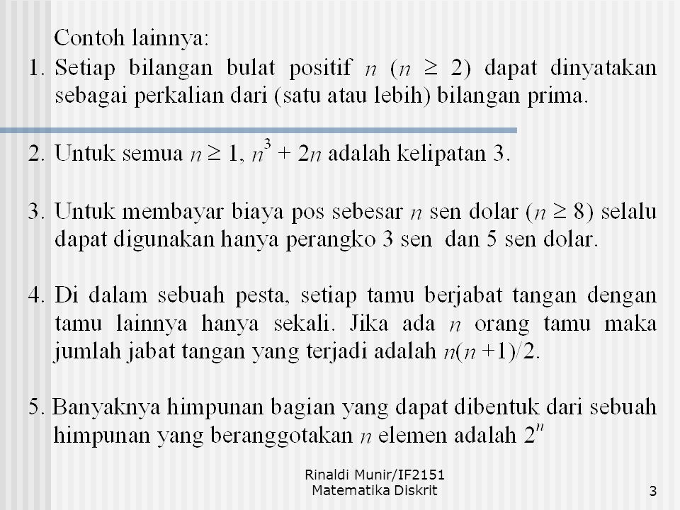 Rinaldi Munir/IF2151 Matematika Diskrit3