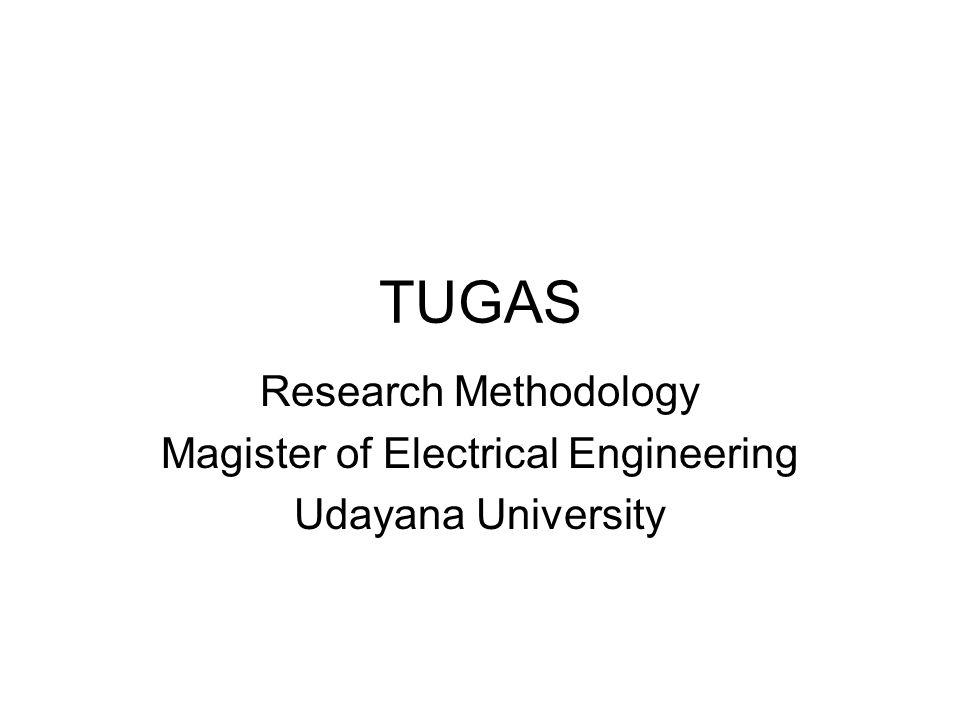 Uraian tugas Susun proposal penelitian sesuai dengan format pada slide ini –Dikerjakan perorangan –Dikumpul tanggal 20 Oktober 2009 –Kemajuan didiskusikan dan dipresentasikan