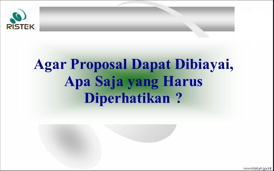 Agar Proposal Dapat Dibiayai, Apa Saja yang Harus Diperhatikan ?
