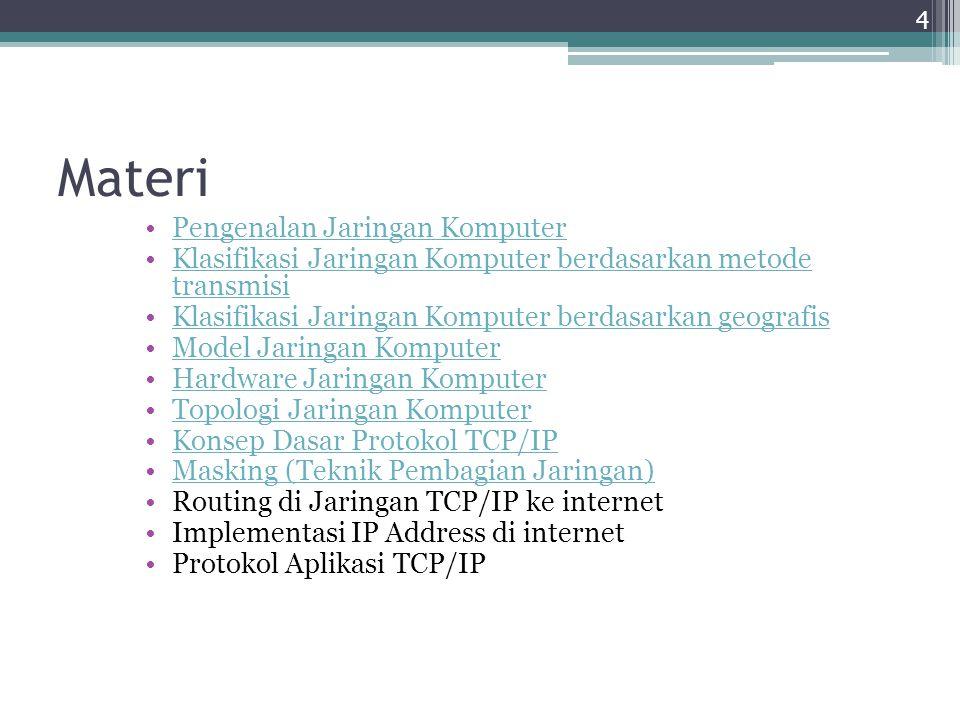 Materi Pengenalan Jaringan Komputer Klasifikasi Jaringan Komputer berdasarkan metode transmisiKlasifikasi Jaringan Komputer berdasarkan metode transmi