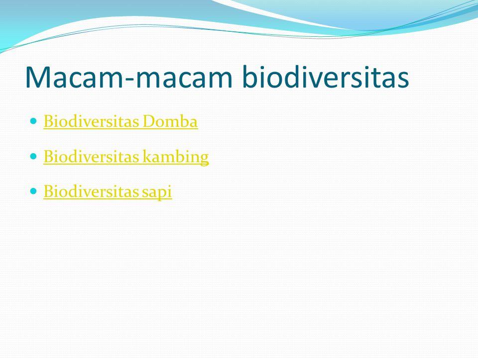 Macam-macam biodiversitas Biodiversitas Domba Biodiversitas kambing Biodiversitas sapi