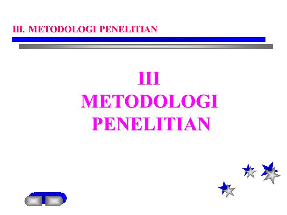 IIIMETODOLOGIPENELITIAN III. METODOLOGI PENELITIAN