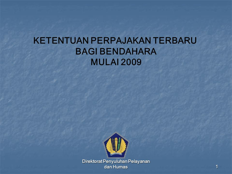 Direktorat Penyuluhan Pelayanan dan Humas62 CONTOH SURAT SETORAN PAJAK (SSP) LEMBAR 1 & 3