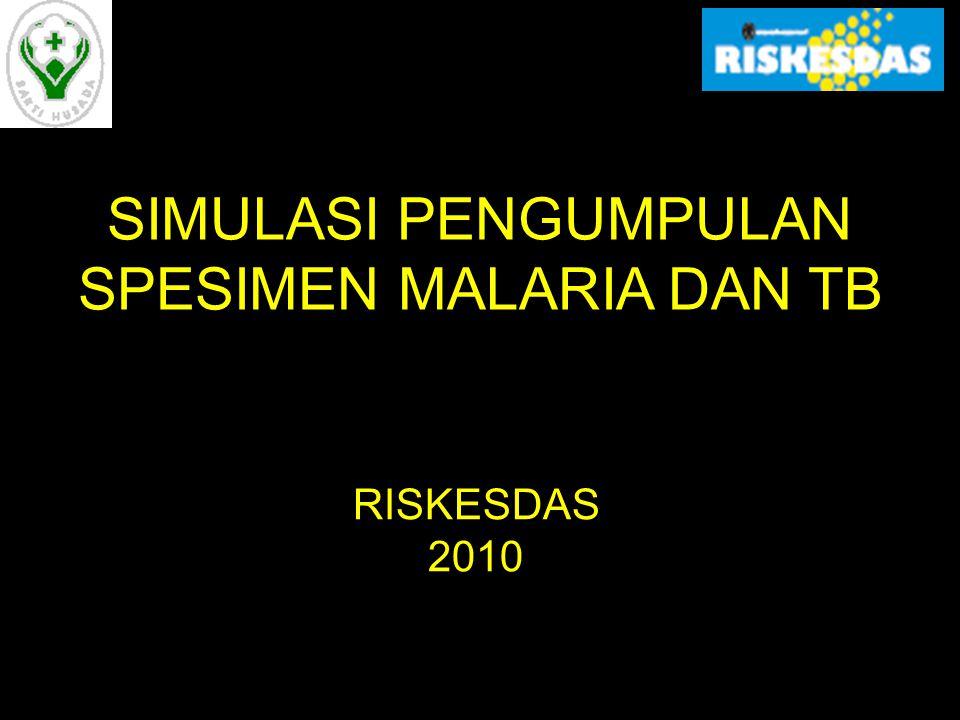 Petugas untuk Pemeriksaan dan Penanganan Spesimen Malaria dan TB Tim Enumerator Petugas Pengumpul Spesimen (PPS) Petugas Laboratorium PRM Petugas di Puslitbang BMF Balitbangkes
