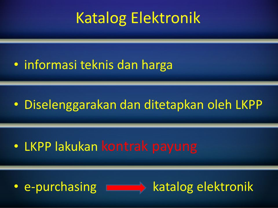 Persetujuan Permintaan pembelian Lihat notifikasi Aplikasi e-proc lainnya, e-purchasing Penyedia log in 16