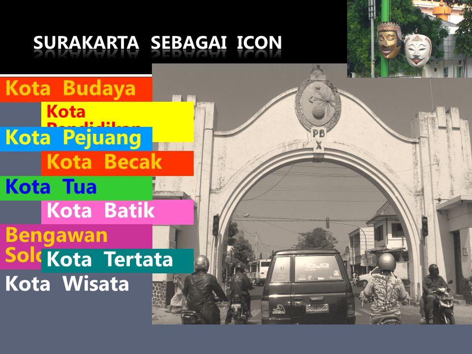 Kota Budaya Kota Pendidikan Kota Pejuang Kota Becak Kota Batik Bengawan Solo Kota Tua Kota Tertata Kota Wisata
