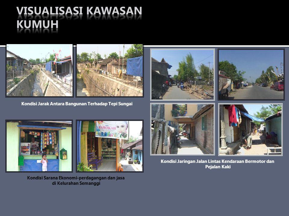 Kondisi Jarak Antara Bangunan Terhadap Tepi Sungai Kondisi Sarana Ekonomi-perdagangan dan jasa di Kelurahan Semanggi Kondisi Jaringan Jalan Lintas Ken