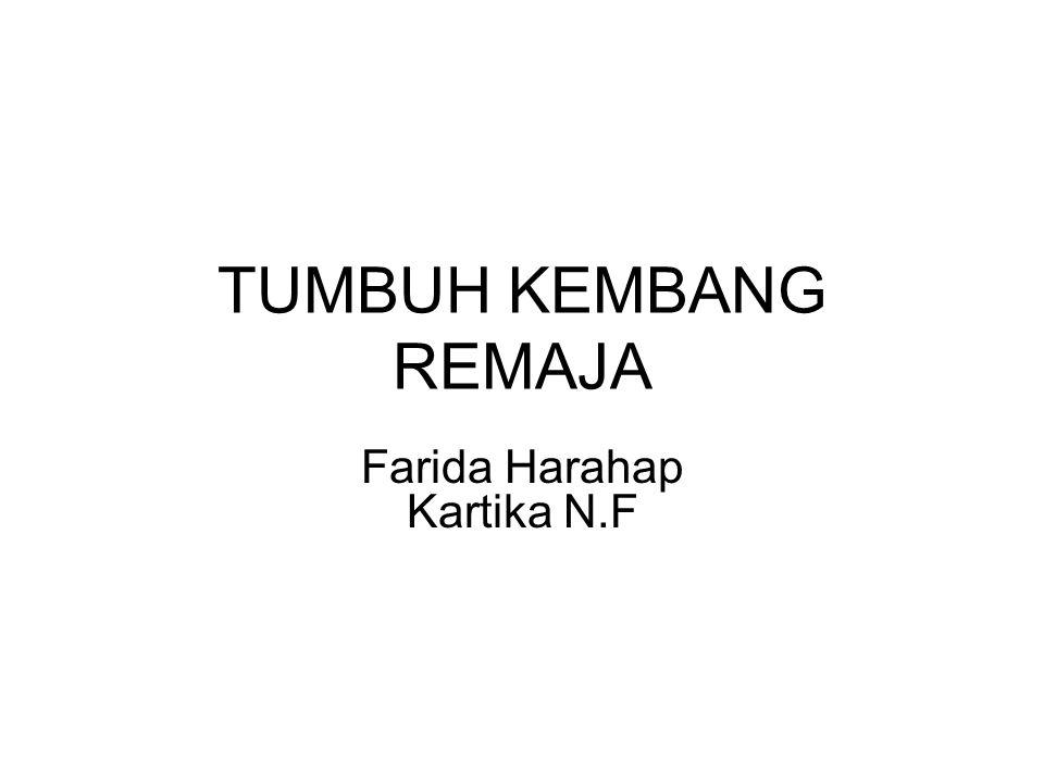 TUMBUH KEMBANG REMAJA Farida Harahap Kartika N.F