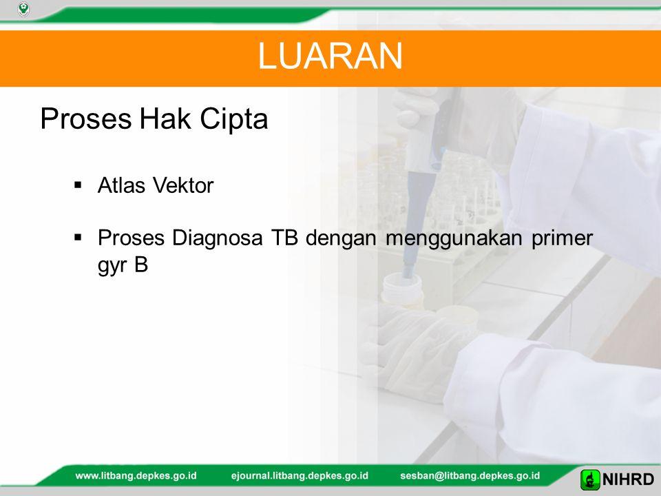 LUARAN Proses Hak Cipta  Atlas Vektor  Proses Diagnosa TB dengan menggunakan primer gyr B