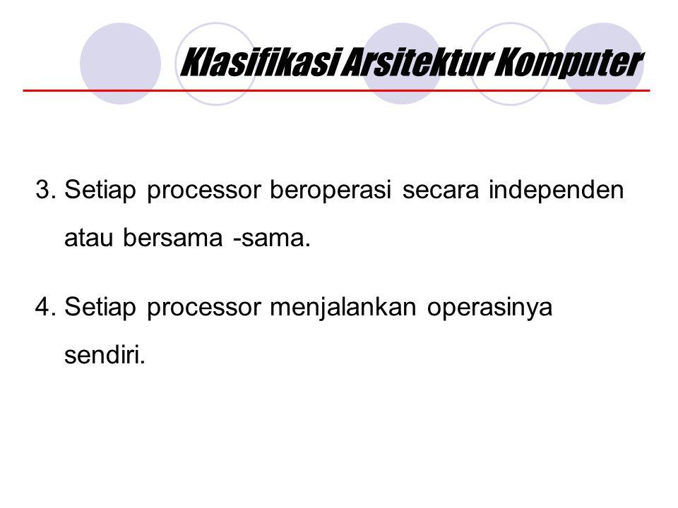 Klasifikasi Arsitektur Komputer 3.