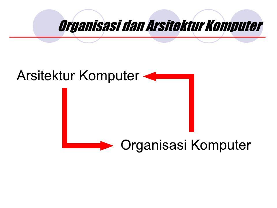 Organisasi dan Arsitektur Komputer Arsitektur Komputer Organisasi Komputer