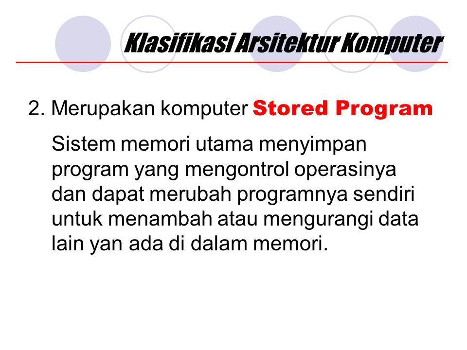 Klasifikasi Arsitektur Komputer 2.