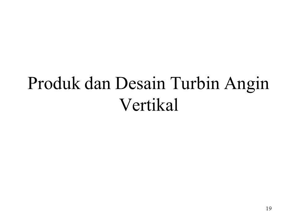 Produk dan Desain Turbin Angin Vertikal 19