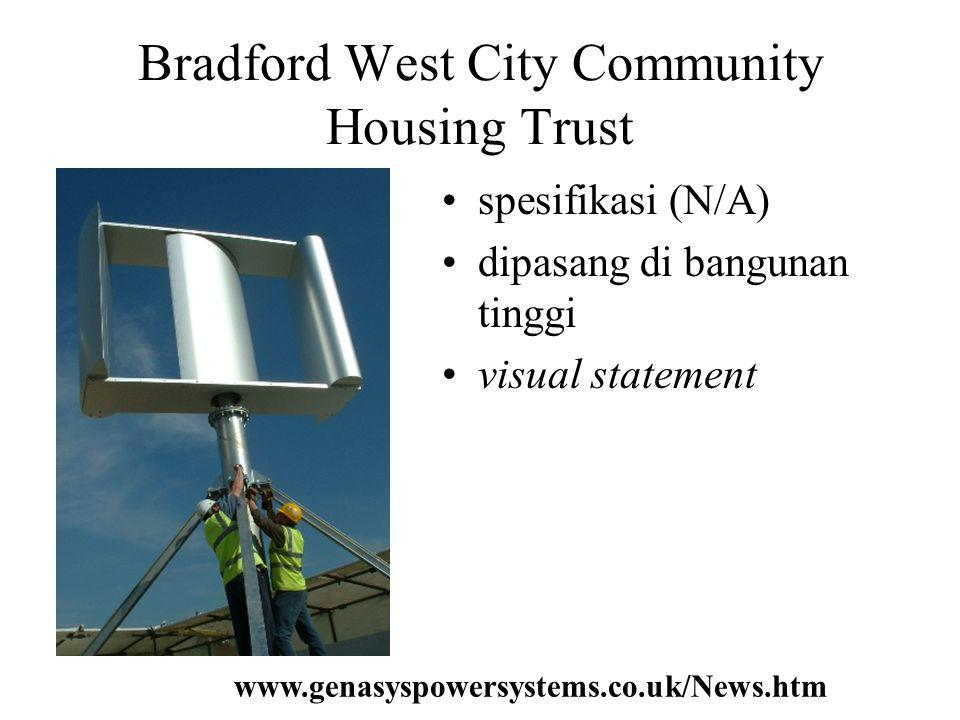 Bradford West City Community Housing Trust spesifikasi (N/A) dipasang di bangunan tinggi visual statement www.genasyspowersystems.co.uk/News.htm