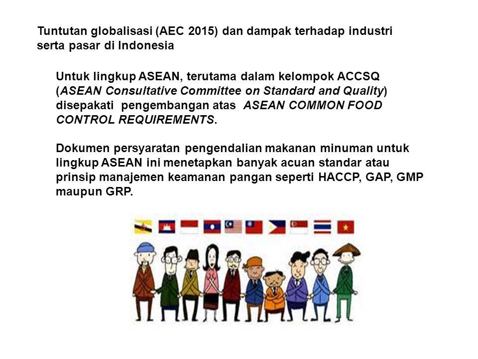Tuntutan globalisasi (AEC 2015) dan dampak terhadap industri serta pasar di Indonesia Untuk lingkup ASEAN, terutama dalam kelompok ACCSQ (ASEAN Consul
