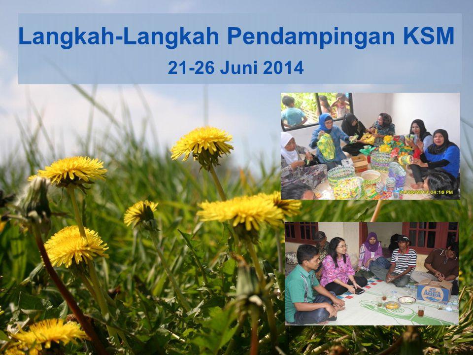 Langkah-Langkah Pendampingan KSM 21-26 Juni 2014