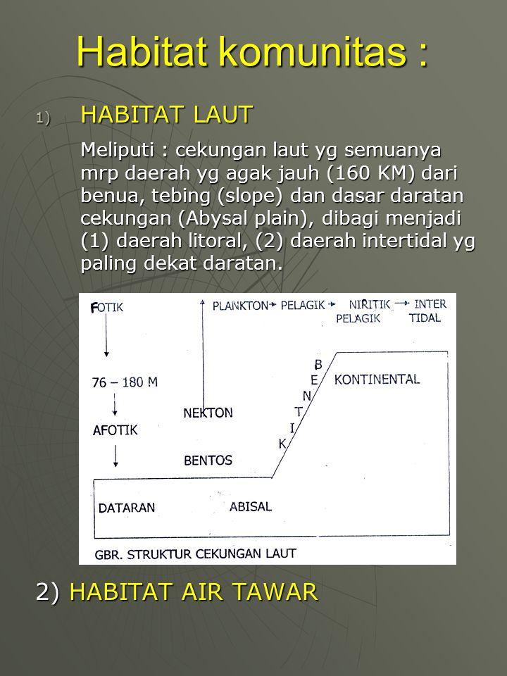 3) HABITAT DARAT a.