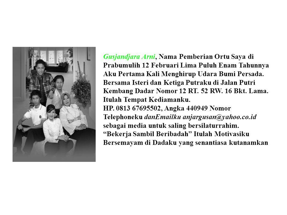 ETIKA DAN PROFESIONALISME KERJA Drs. Gusjandjara Arni. Msi