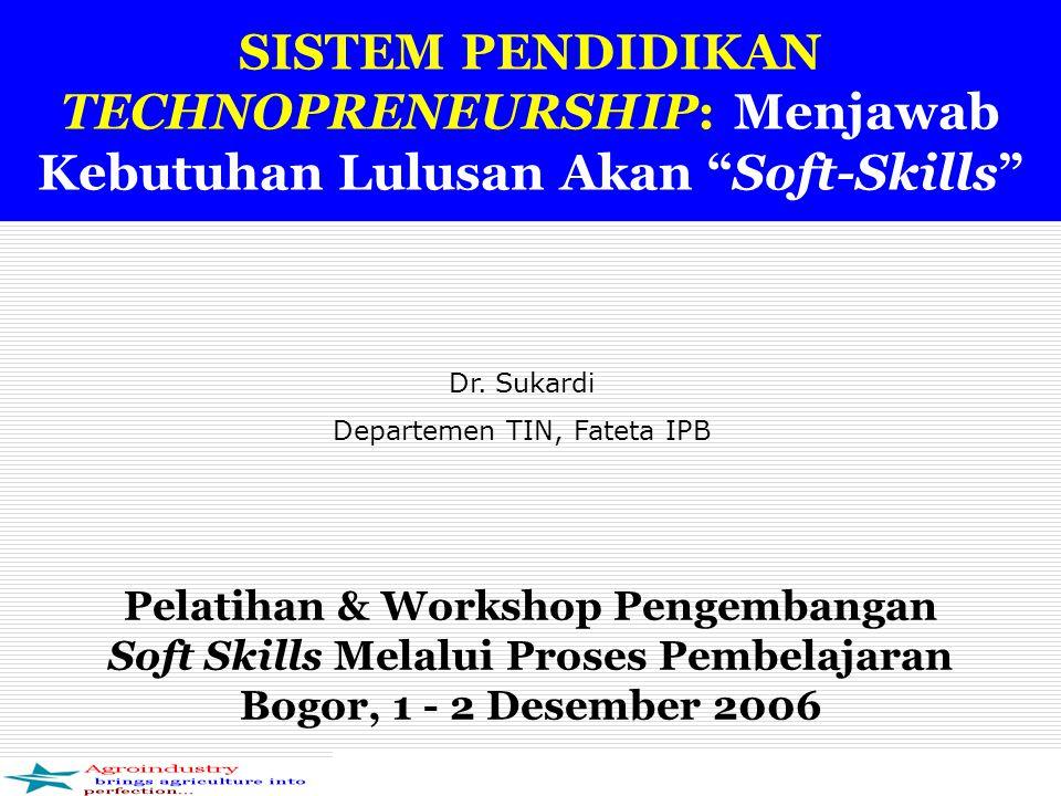 Implementasi SPT  Dalam implementasi SPT di TIN, semua elemen sub sistem SPT harus diarahkan untuk berkontribusi dalam mencetak, mempersiapkan, atau menghasilkan, mengevaluasi sarjana technopreneur  Menumbuhkan mindset.