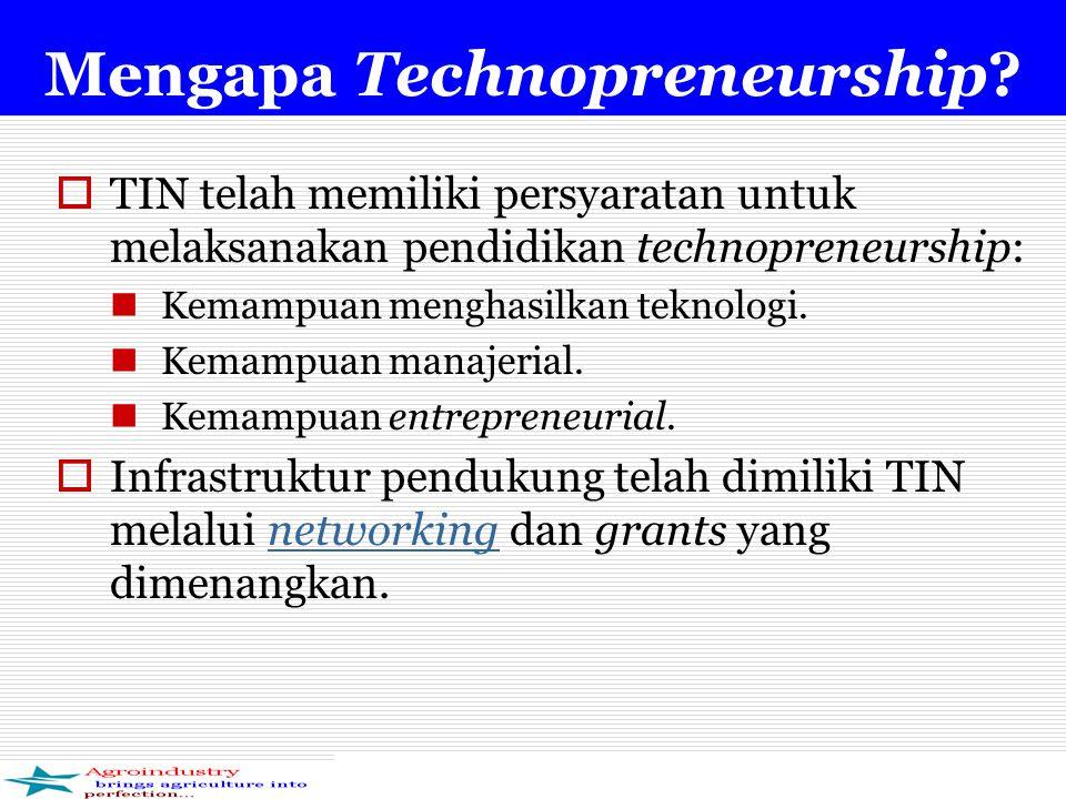 Mengapa Technopreneurship.
