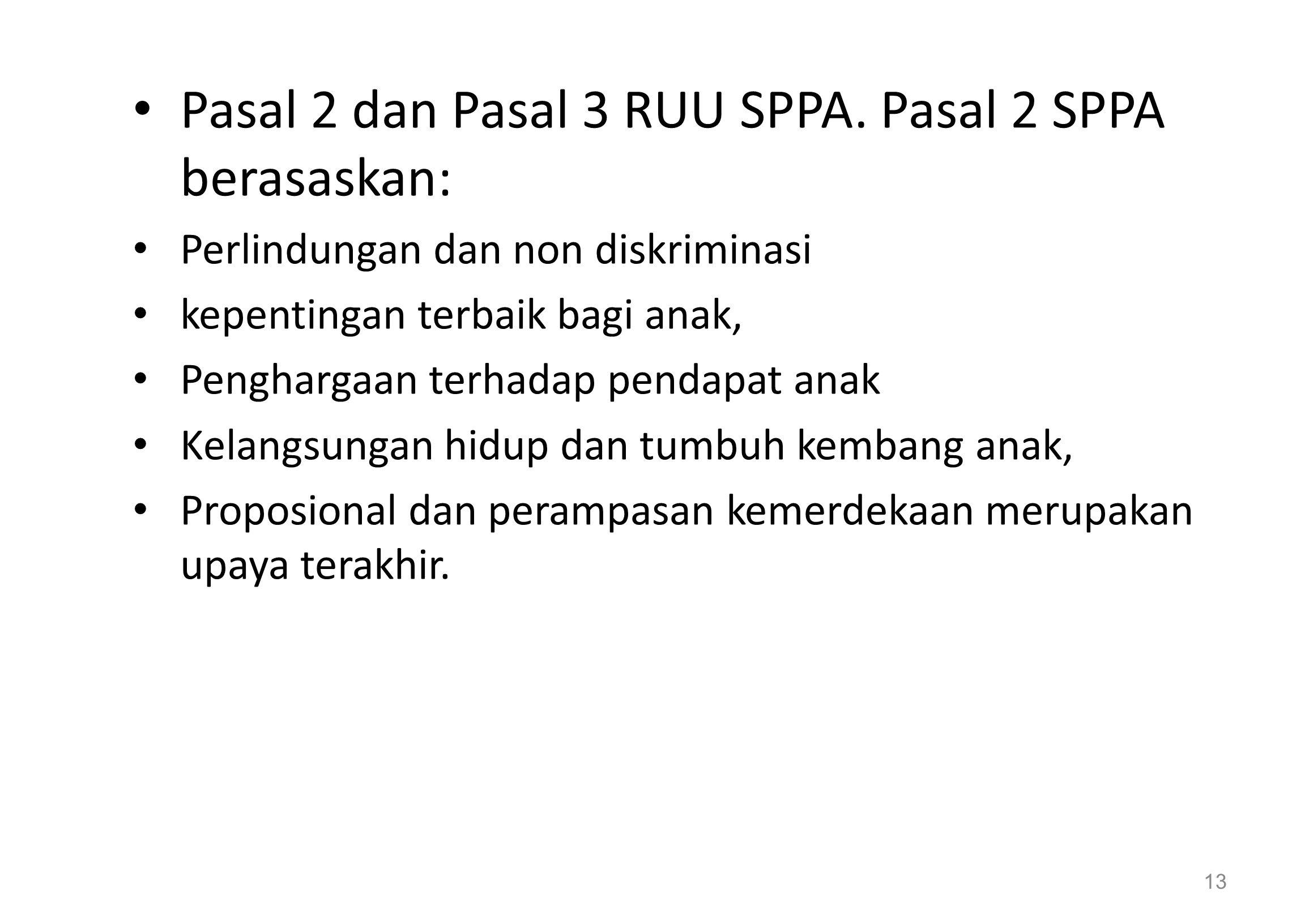 Pasal 2 dan Pasal 3 RUU SPPA.
