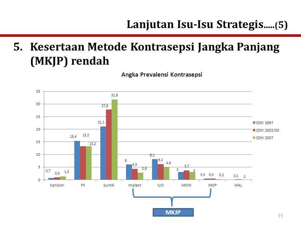 5.Kesertaan Metode Kontrasepsi Jangka Panjang (MKJP) rendah Lanjutan Isu-Isu Strategis.....