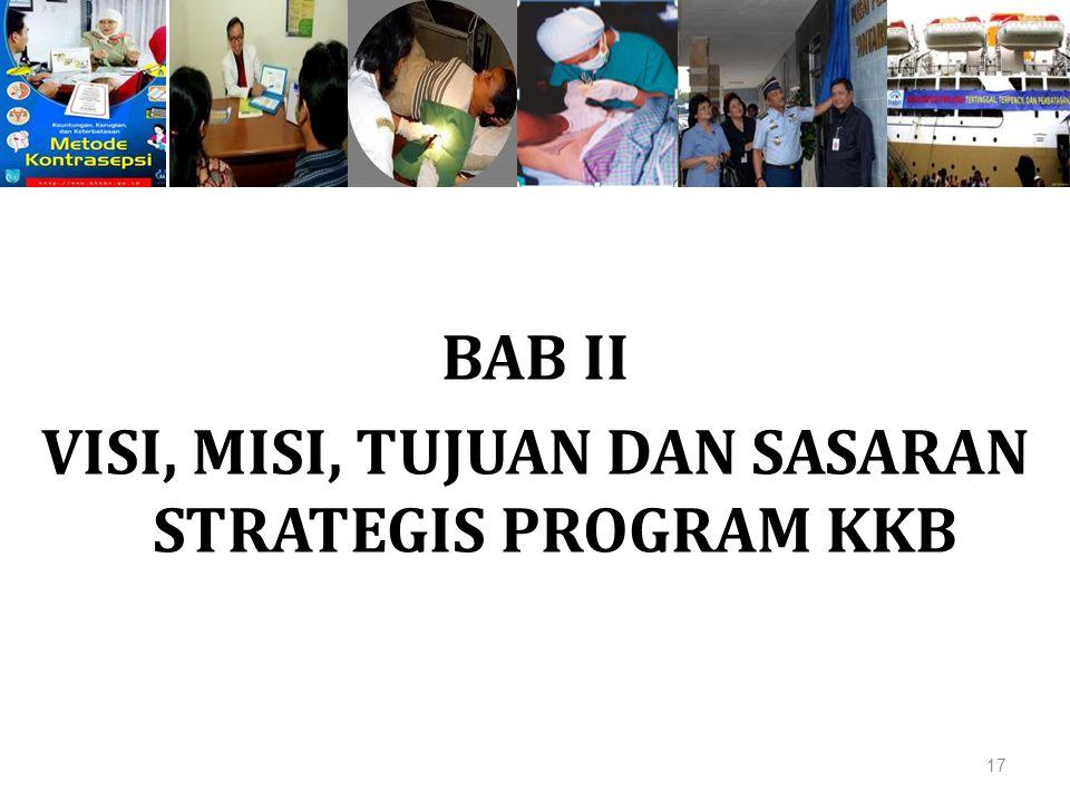 BAB II VISI, MISI, TUJUAN DAN SASARAN STRATEGIS PROGRAM KKB 17