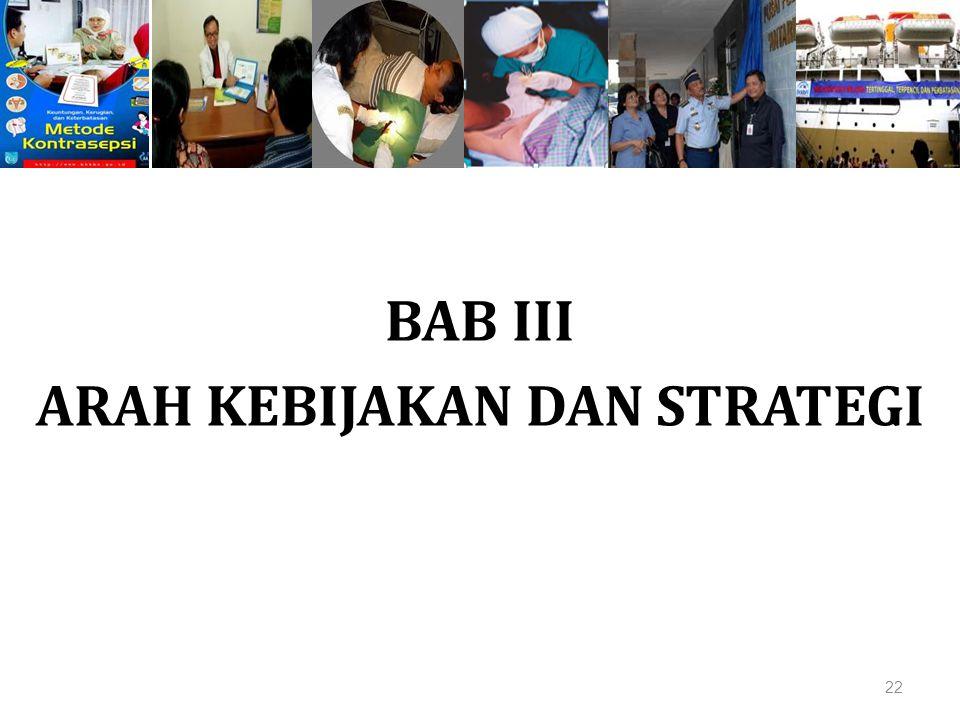 BAB III ARAH KEBIJAKAN DAN STRATEGI 22