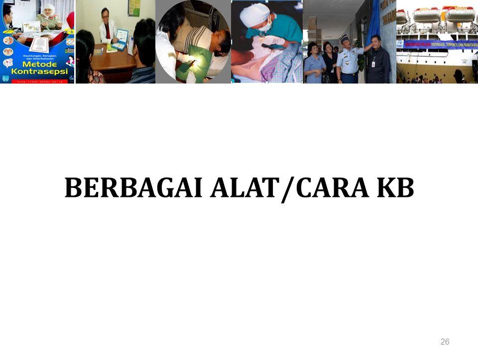 BERBAGAI ALAT/CARA KB 26