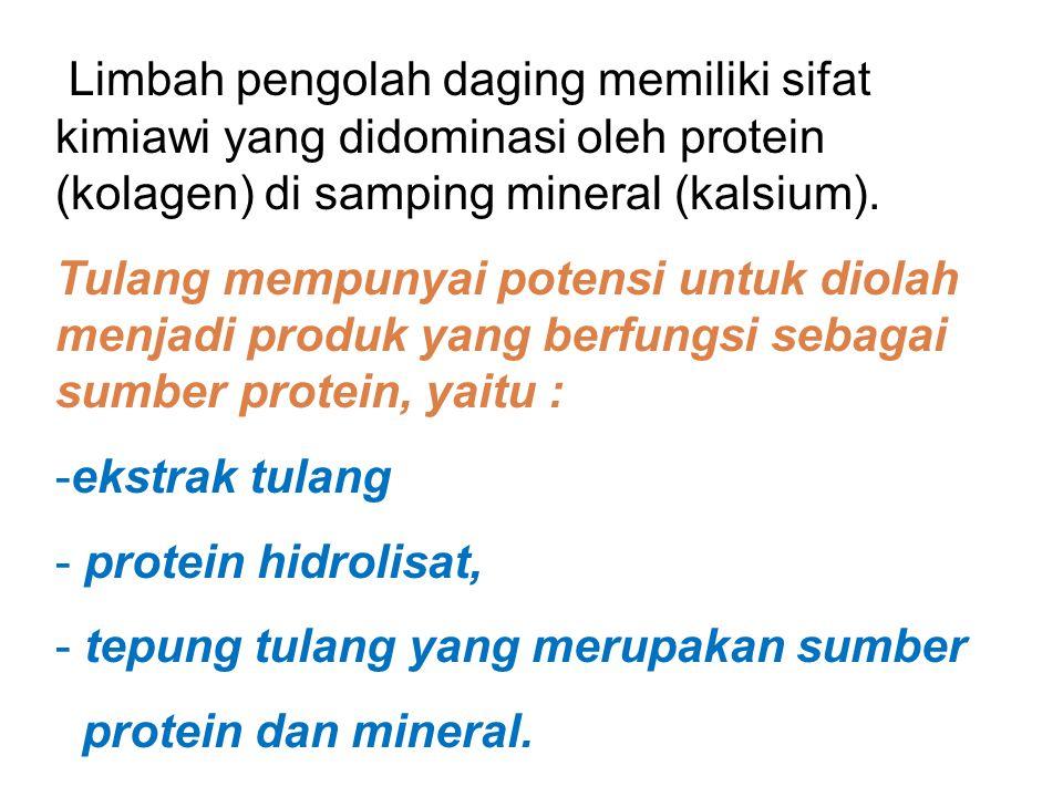 Contoh 1. Pemanfaatan limbah tulang dari pabrik pengolah daging
