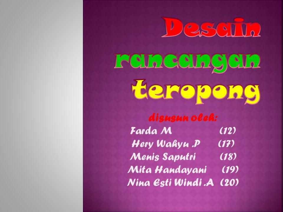 disusun oleh: Farda M (12) Hery Wahyu.P (17) Menis Saputri (18) Mita Handayani (19) Nina Esti Windi.A (20)
