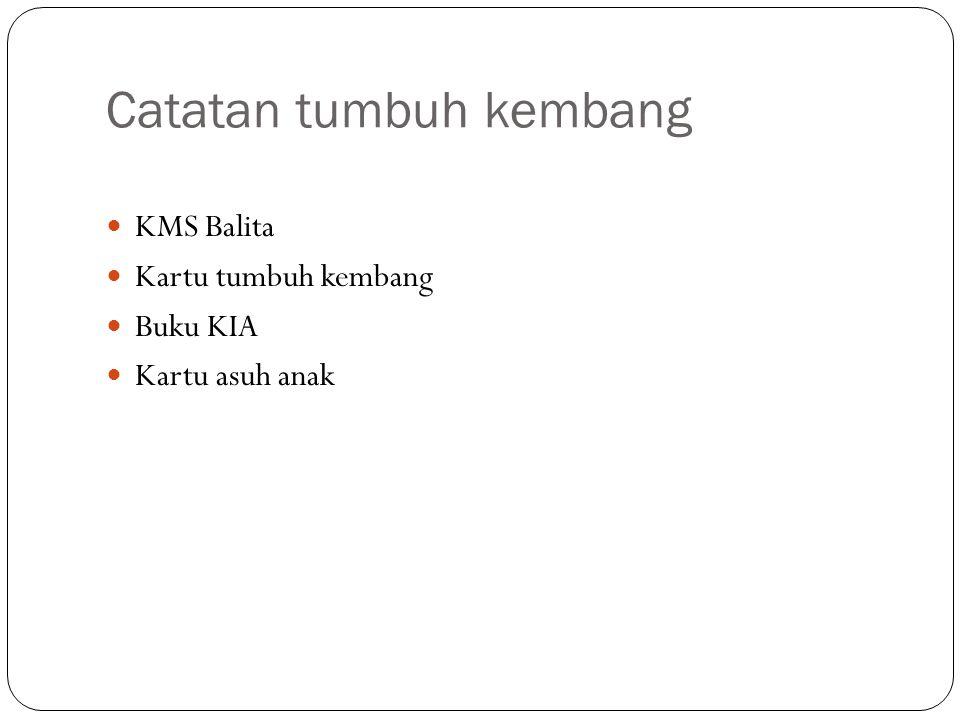 Catatan tumbuh kembang KMS Balita Kartu tumbuh kembang Buku KIA Kartu asuh anak