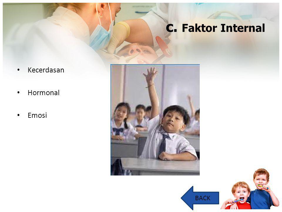 c. Faktor Internal Kecerdasan Hormonal Emosi BACK
