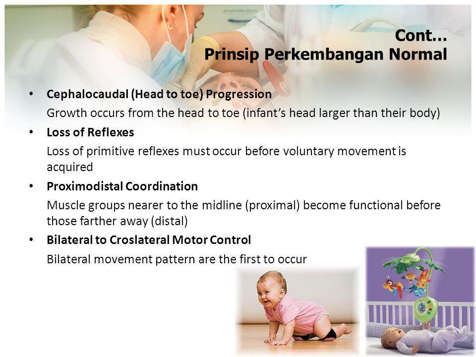Bayi (4-5 bulan)… Fisik: BB 2x BB lahir, koordinasi menelan (-) Motorik: a.