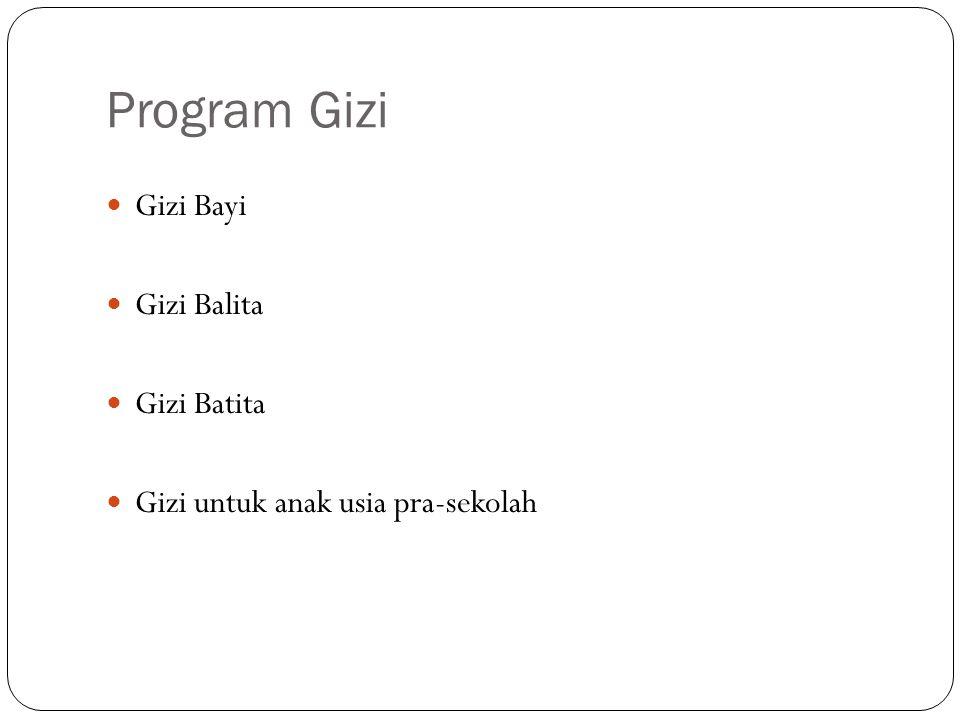 Program Gizi Gizi Bayi Gizi Balita Gizi Batita Gizi untuk anak usia pra-sekolah