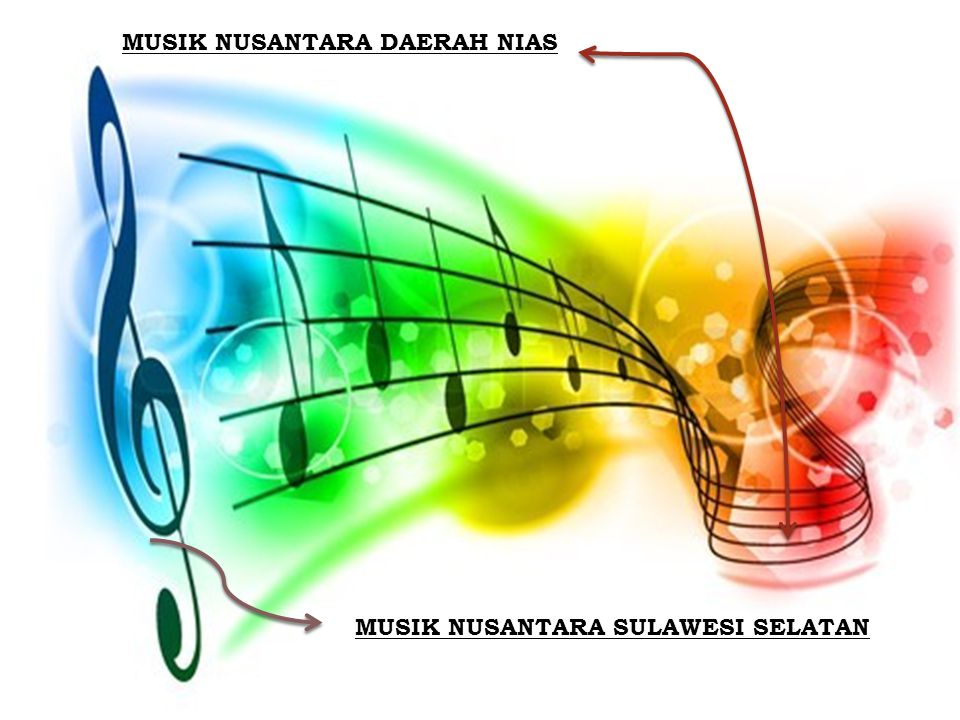 MUSIK NUSANTARA DAERAH NIAS Musik daerah Nias terdiri atas empat atau tiga nada dalam satu oktaf.