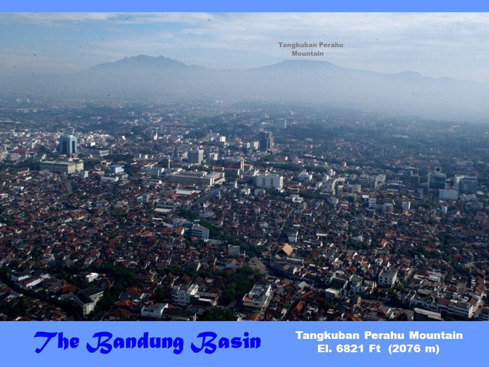 The Bandung Basin Tangkuban Perahu Mountain El. 6821 Ft (2076 m)