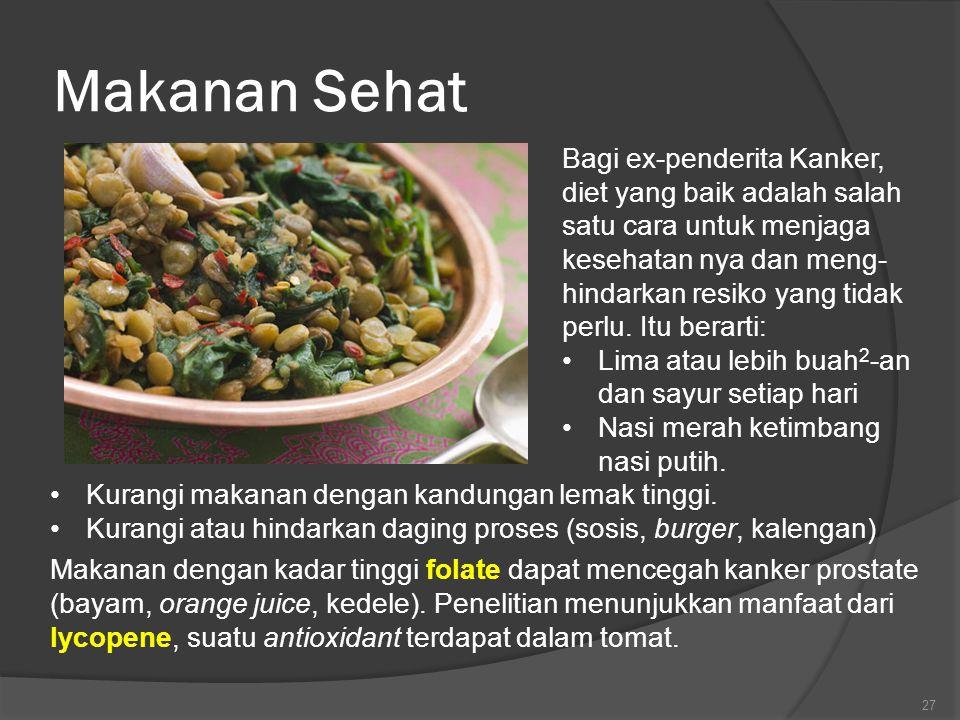 Makanan Sehat Bagi ex-penderita Kanker, diet yang baik adalah salah satu cara untuk menjaga kesehatan nya dan meng- hindarkan resiko yang tidak perlu.