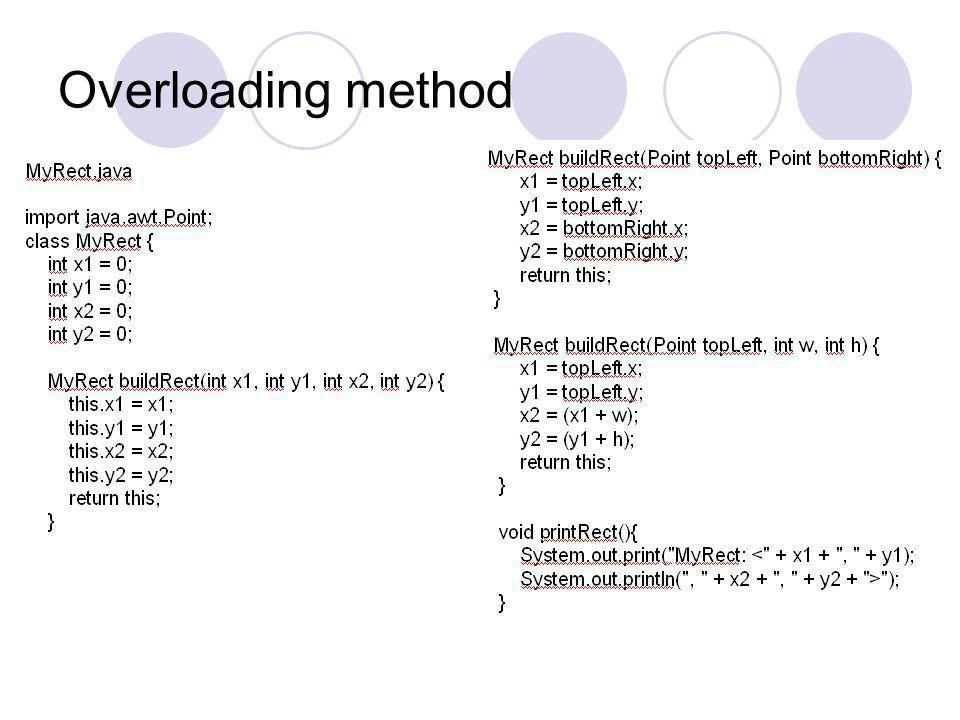 Overloading method