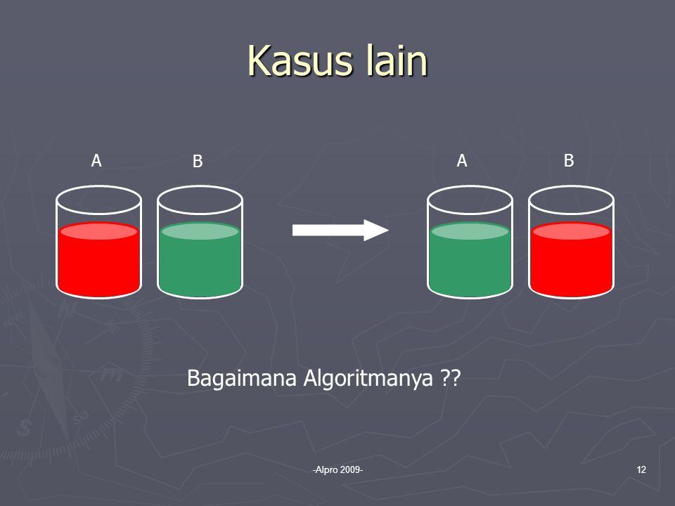 -Alpro 2009-12 Kasus lain A B AB Bagaimana Algoritmanya ??