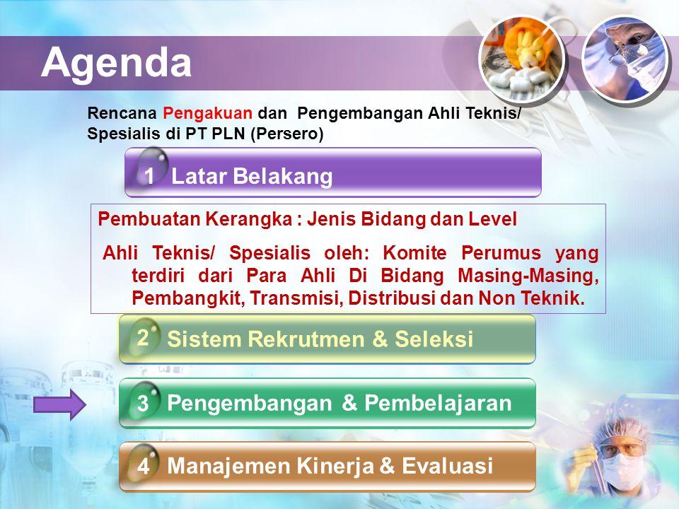 Agenda Latar Belakang Sistem Rekrutmen & Seleksi Pengembangan & Pembelajaran Manajemen Kinerja & Evaluasi 4 1 2 3 Rencana Pengakuan dan Pengembangan A
