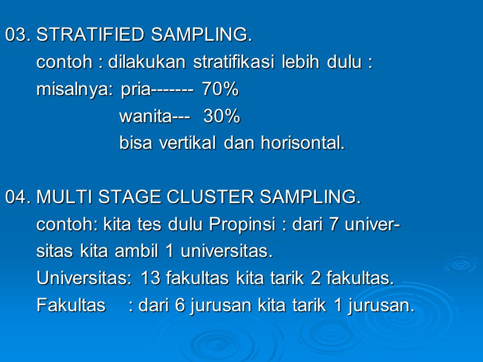 03. STRATIFIED SAMPLING.
