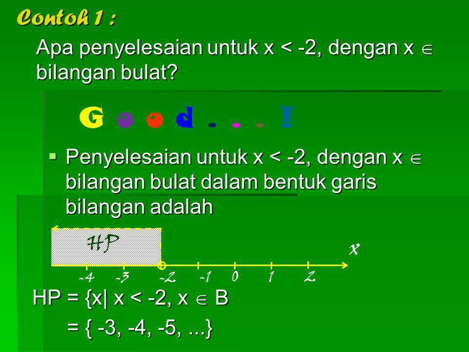 Jadi, apa itu pertidaksamaan ? G o o d... ! Pertidaksamaan adalah suatu bentuk matematika yang menggunakan lambang, ≤, atau ≥