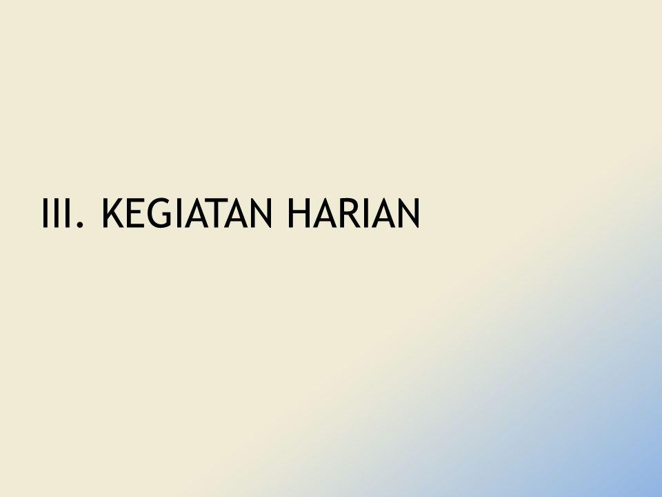 III. KEGIATAN HARIAN