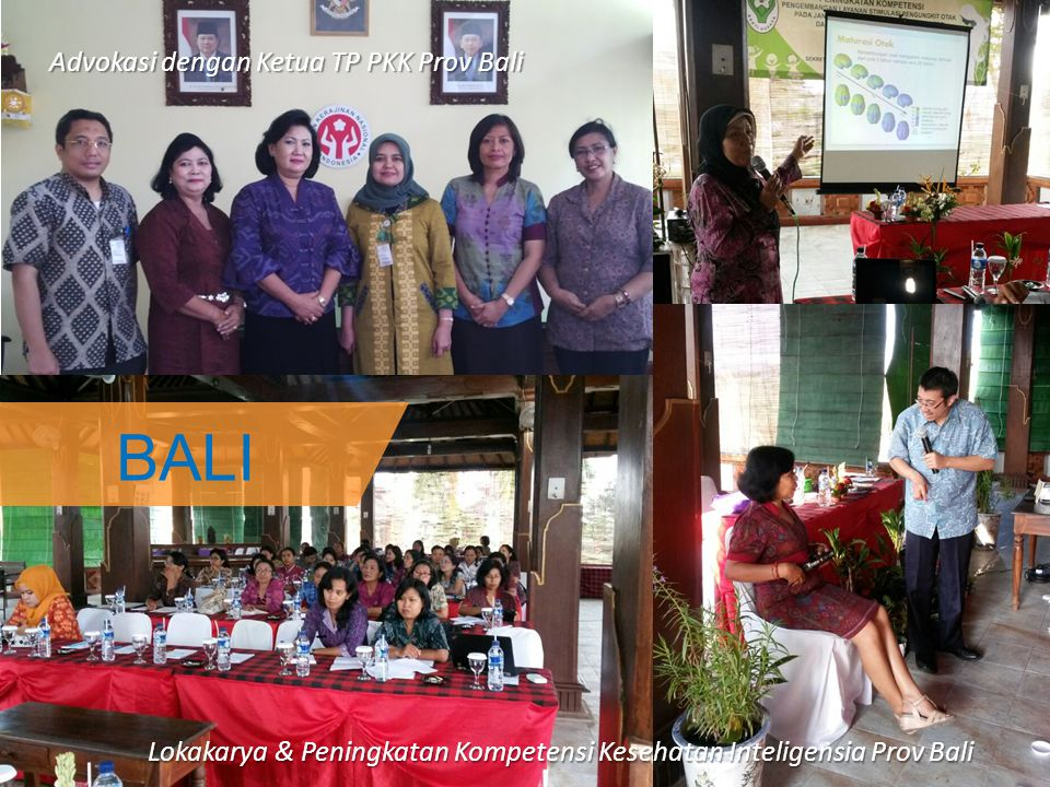 BALI Advokasi dengan Ketua TP PKK Prov Bali Lokakarya & Peningkatan Kompetensi Kesehatan Inteligensia Prov Bali