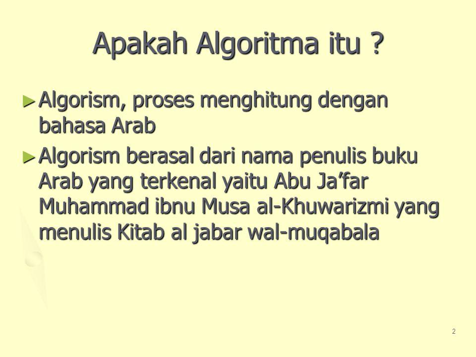 2 Apakah Algoritma itu .