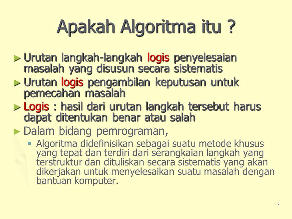 3 Apakah Algoritma itu .