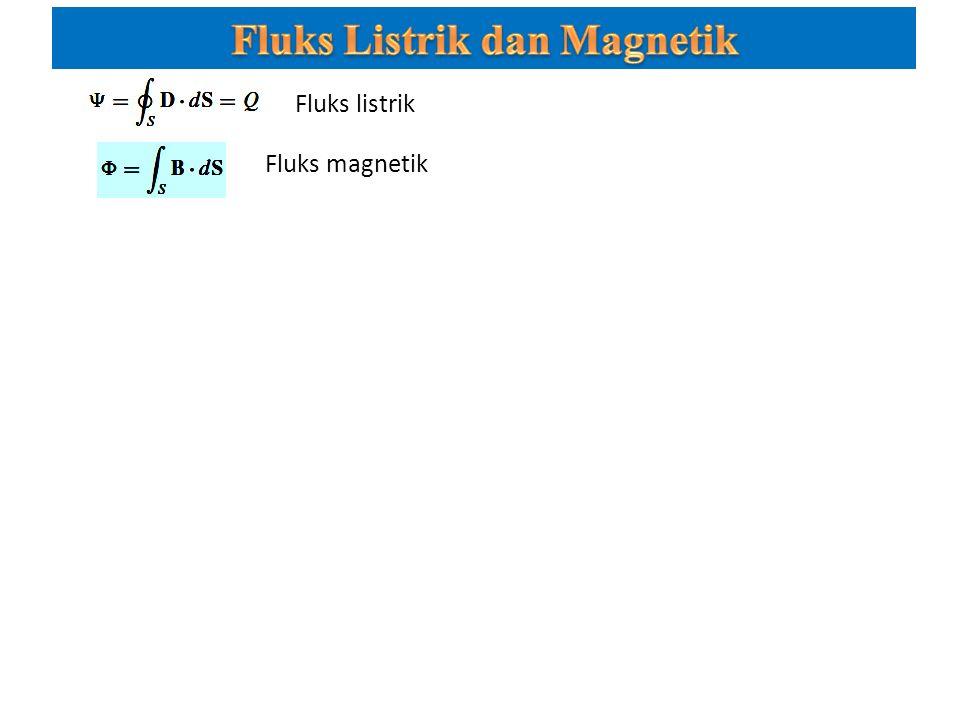 Fluks magnetik Fluks listrik