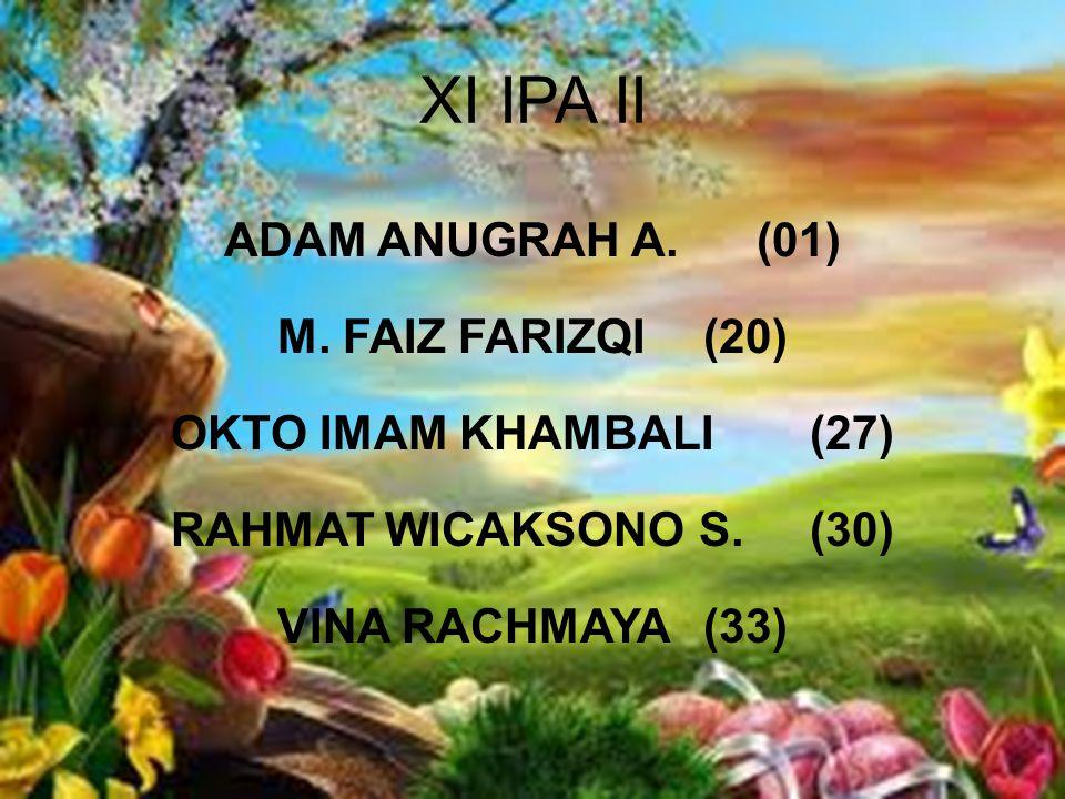 XI IPA II ADAM ANUGRAH A.(01) M.