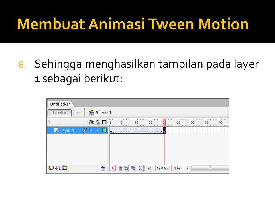 8. Sehingga menghasilkan tampilan pada layer 1 sebagai berikut: